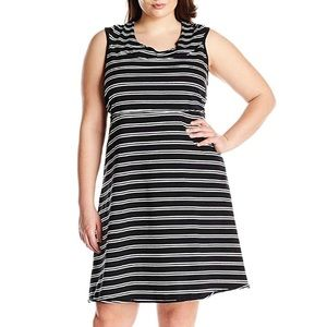 Marc New York Stripe Dress With Hood